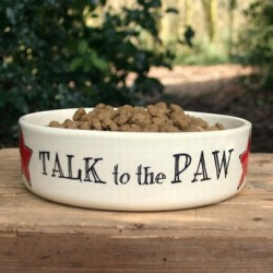 Talk to the Paw Dog Bowl