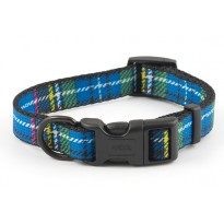 Blue Tartan Dog Collar - By Ancol