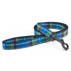 Blue Tartan Dog Lead - By Ancol