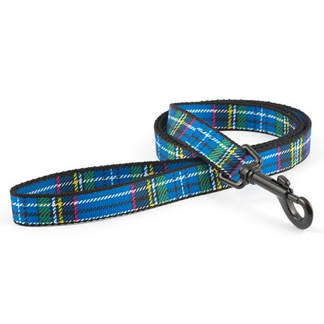 Blue Tartan Dog Lead - By Ancol