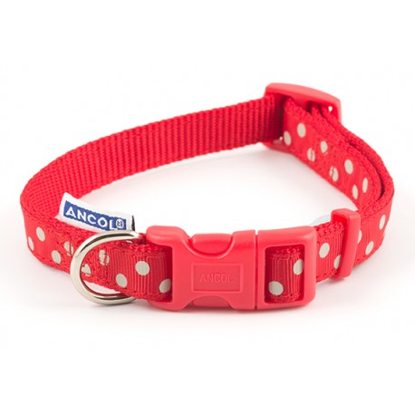 Red Dog Collar Spotty