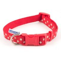 Red Dog Collar Spotty