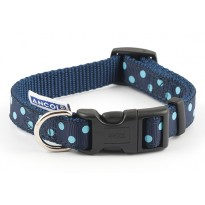 Perfect Polka Navy Dog Collar - By Ancol