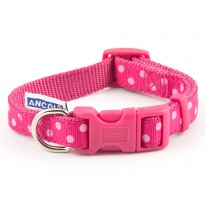 Perfect Polka Raspberry Dog Collar - By Ancol