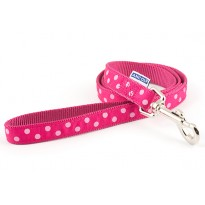 Perfect Polka Raspberry Dog Lead - By Ancol