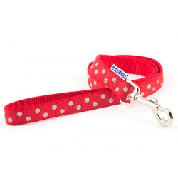 Perfect Polka Red Dog Lead - By Ancol
