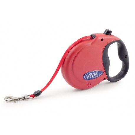 Red Viva Retractable Lead - By Ancol