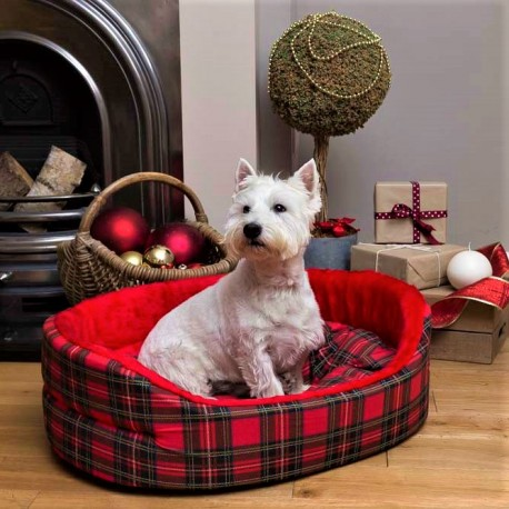 Red Tartan Dog Superbed