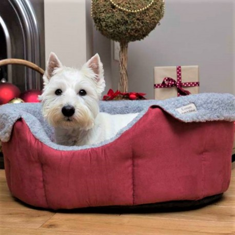 Red Chelsea Slumbernest Luxury Dog Bed