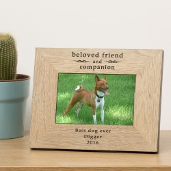 Beloved friend and companion Wood Frame 6x4