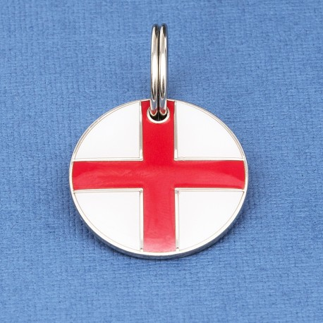 St George Cross Round Tag