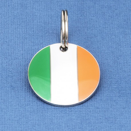 Irish Flag Round Pet Tag