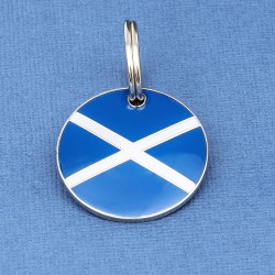 Scottish Flag Round Tag