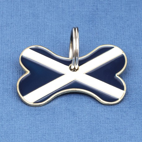 Scottish Flag Bone Pet ID Tag