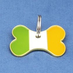 Irish Flag Bone Pet ID Tag