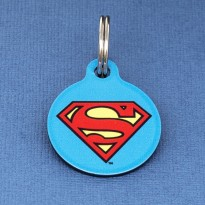 Superman Pet ID Tag - Medium