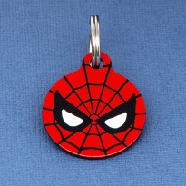 Spiderman Pet ID Tag - Medium