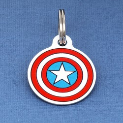Captain America Pet ID Tag
