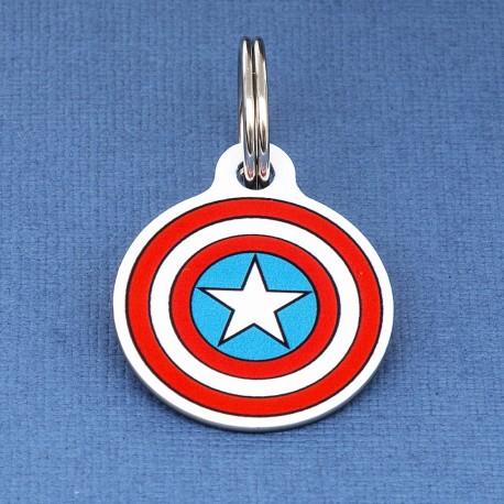 Captain America Pet ID Tag