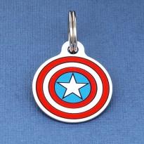 Captain America Pet ID Tag - Medium