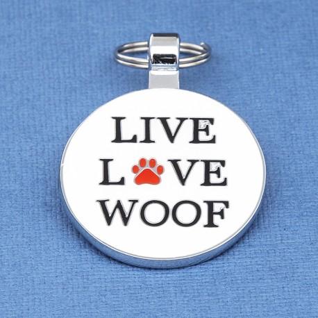 Live Love Woof Dog ID Tag