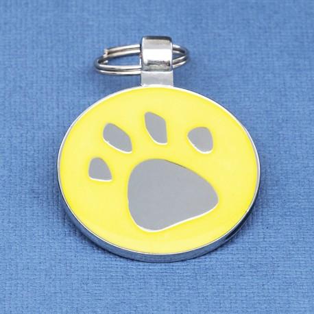 I Heart Paw Print Dog ID Tag