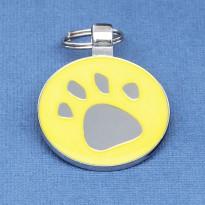 Glow In The Dark Paw Print Dog ID Tag