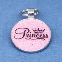 Pink Princess Dog ID Tag