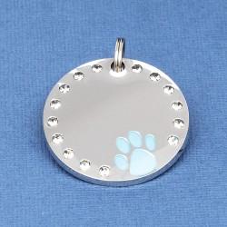 Crystal Paw Pet ID Tag Blue