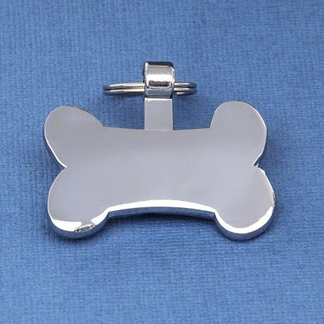 Silver Bone Pet Tag