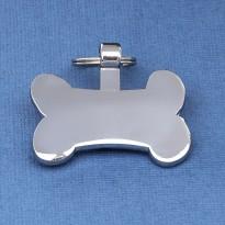 Silver Bone Dog ID Tag