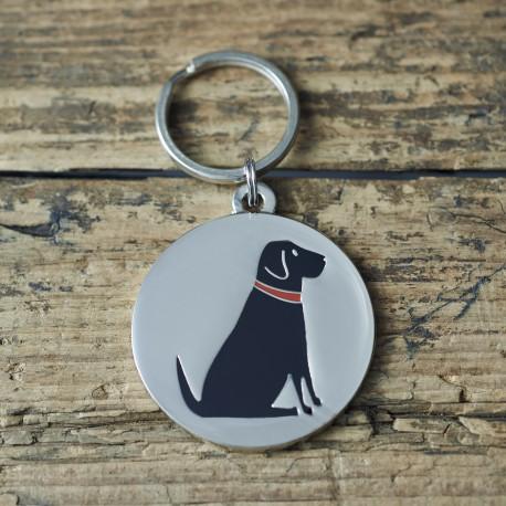 Black Labrador Dog ID Tag
