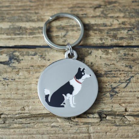 Border Collie Dog ID Tag