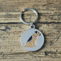 Border Terrier Dog ID Tag