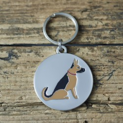 German Shepherd Dog ID Tag