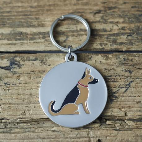 German Shepherd Dog ID Tag