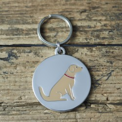 Golden Retriever Dog ID Tag