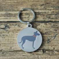 Lurcher Dog ID Tag