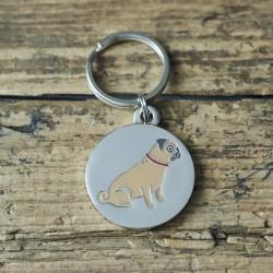 Pug Dog ID Tag