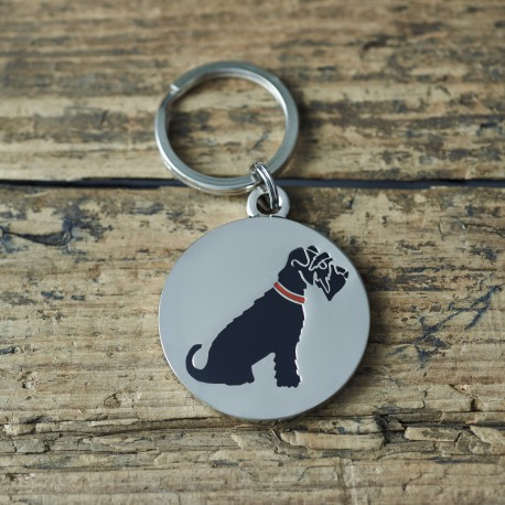 Black Schnauzer Dog ID Tag