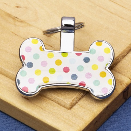 Spotty Bone Dog ID Tag