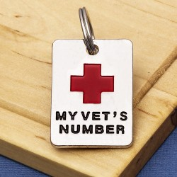 My Vets Number Dog Id Tag