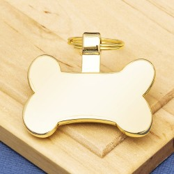 Gold Bone Pet Tag