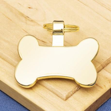 Gold Bone Dog ID Tag
