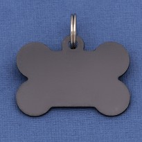 Black Bone Dog ID Tag