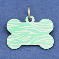Green Bone Dog ID Tag Tiger Stripe