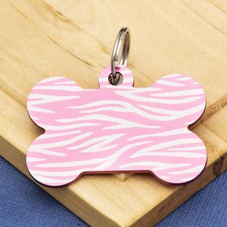 Pink Bone Dog ID Tag Tiger Stripe