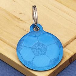 Football Dog ID Tag Blue