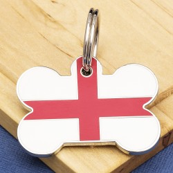 St George Cross Bone Pet ID Tag Large