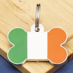 Irish Flag Pet Tag Bone